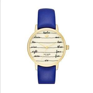 NWT Kate spade blue chalkboard watch